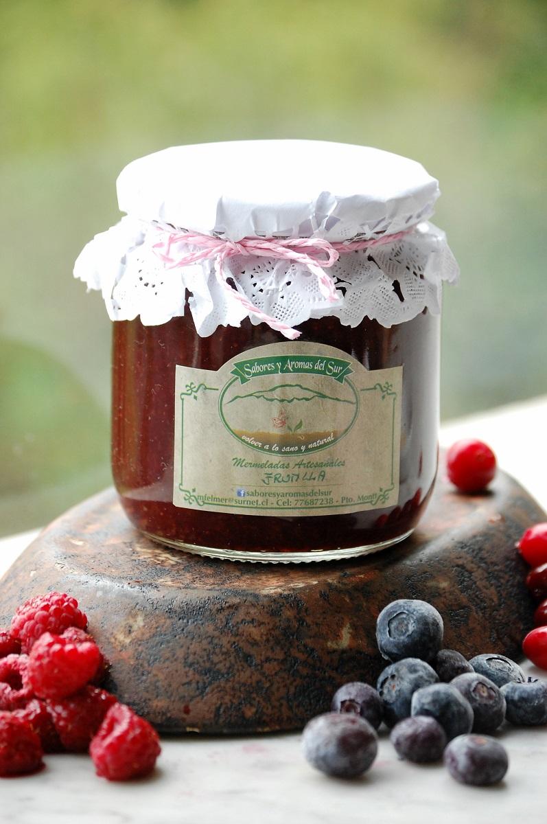 Frasco de mermelada de frutilla de saboresyaromasdelsur