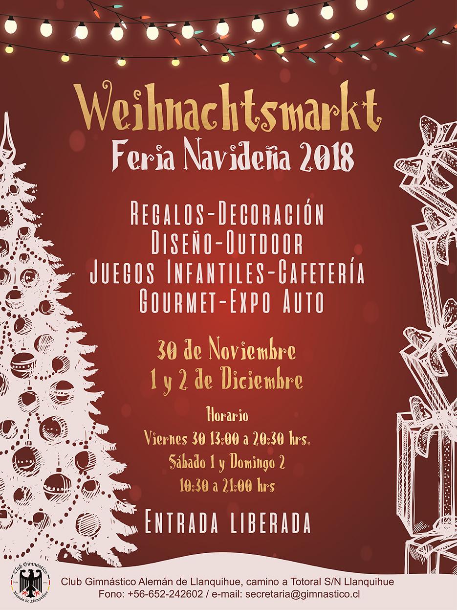 Feria Navidad 2018, en el Club Gimnástico Alemán de Llanquihue